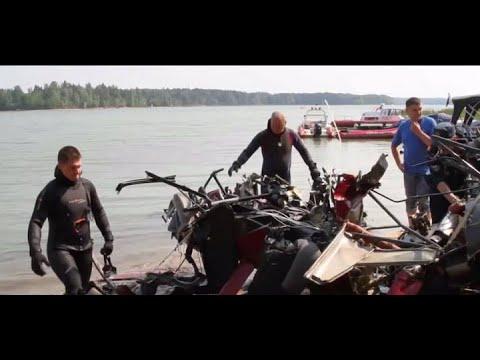 (10.08.2015) Авиакатастрофа на ИСТРИНСКОЕ водохранилище, вертолет и самолет подняли на поверхность