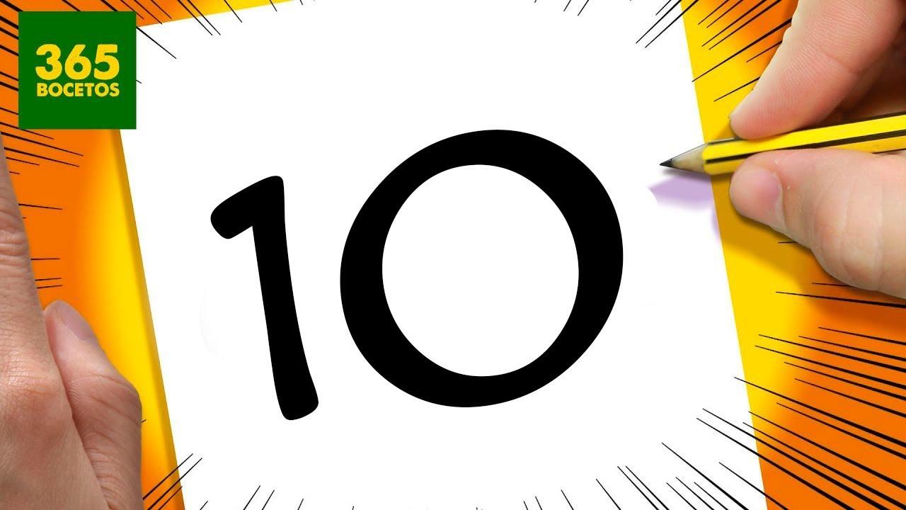 Increible truco con el numero 10 dibujo un personaje con for Numero deputati alla camera