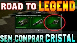 Tanki Online Road To Legend (sem comprar cristal #24) Rank Up + 60k Crystals battle fund