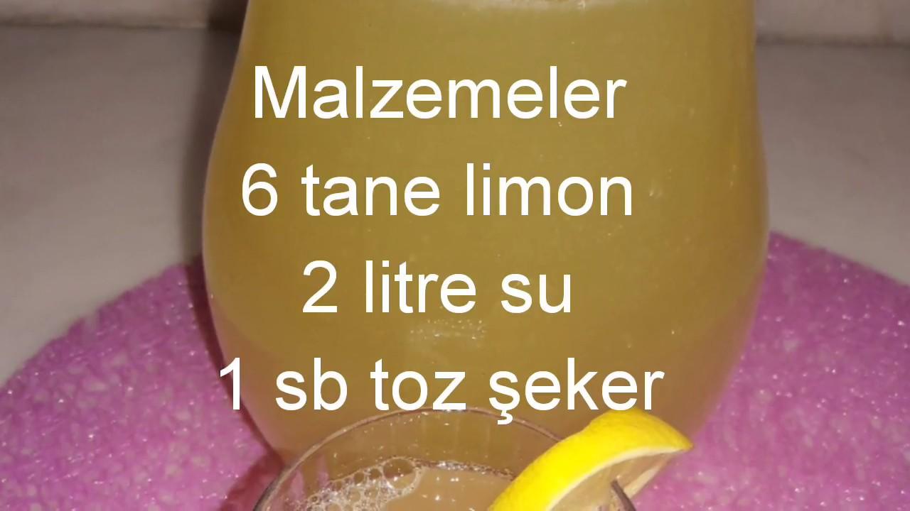 Limon ve şekerle 3 dakikada 3 malzemeyle 3 litre limonata / limonata / çok kolay tarifler