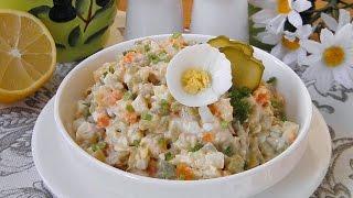 Салат Столичный с курицей рецепт приготовления