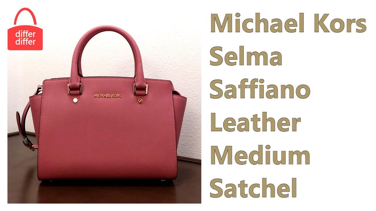 f24c8a099824 Michael Kors Selma Saffiano Leather Medium Satchel 30S3GLMS2L - YouTube