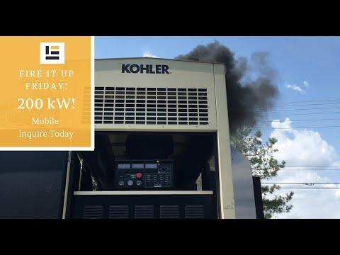 200 kW Kohler Diesel Generator (Mobile) - Start Up