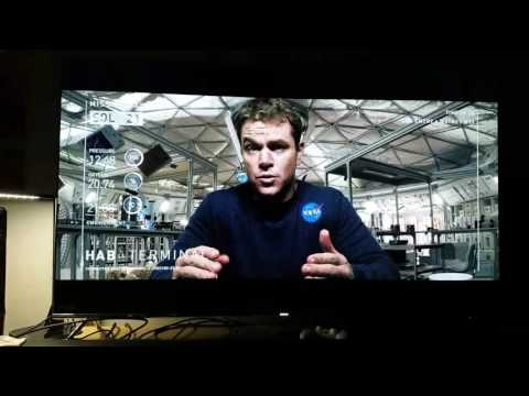 THE MARTIAN looks Fantastic on SONY UBP X800 4k player