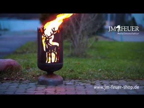 Jm Feuer Shop feuerkorb hirsch aus metall