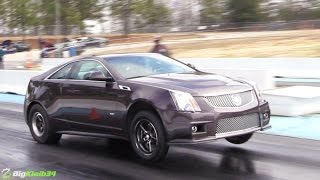 9 second record cts v pulling wheelies this thing is bad