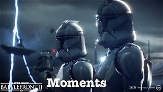 Star Wars Battlefront 2 Moments #6(Epic and Weird Moments)  All Games