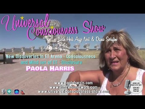 Universal Consciousness Show Special Guest Internationally Renown Paola Harris 9-21-18