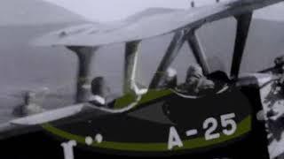 Flying BiPlane Over Europe 1920s 9 5