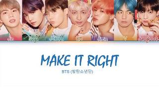 BTS                  - Make it Right s  Color Coded HanRomEng  Resimi