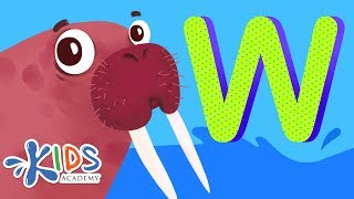 Learn Letter W - Alphabet for Kids   Animated Educational Cartoon   Kids Academy