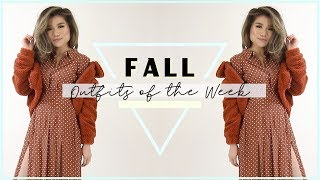Fall Outfits of the Week Lookbook 2018 | Cozy Fall Outfit Ideas for Women | Miss Louie