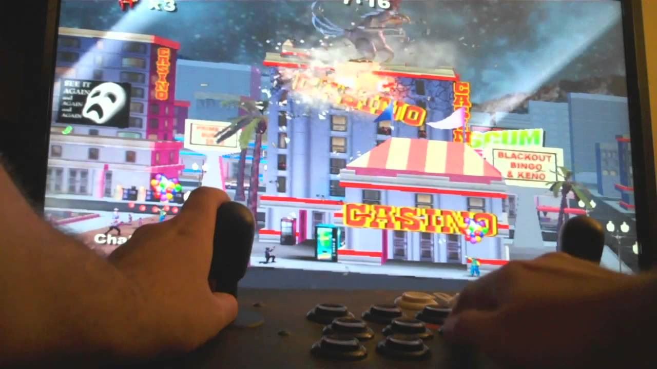 Rampage Total Destruction Wii With Arcade Controls Youtube