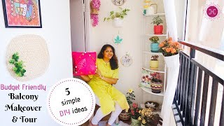 Beautiful Balcony Makeover / Easy DIY Indian Balcony Decoration Ideas /  Ft.Disha Mishra Dubey