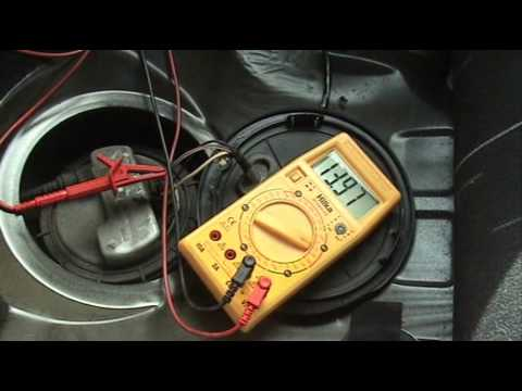 How To Test A Fuel Pump With Volt Meter Youtube