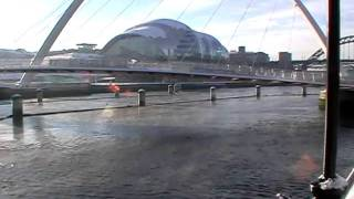 Ice Cold December Day on River Tyne Newcastle upon Tyne Gateshead