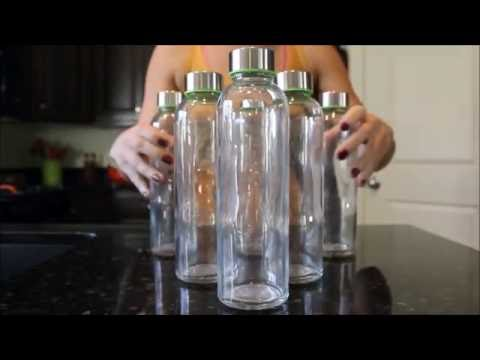 Infusing Water with my Brieftons Glass Water Bottles #Brieftons