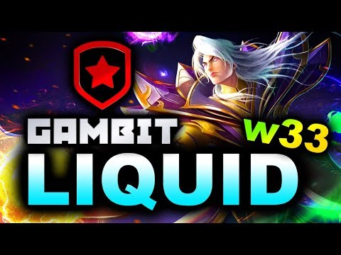 LIQUID Vs GAMBIT - W33 NEW ROSTER DEBUT! - EPICENTER MAJOR 2019 DOTA 2