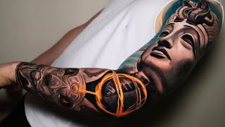 COMPLETED AN OUTER SLEEVE IN ONE DAY ( TIME LAPSE TATTOO) by Mr.reyes_ink