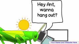 Business planning - the ant and the grasshopper, whiteboard animation