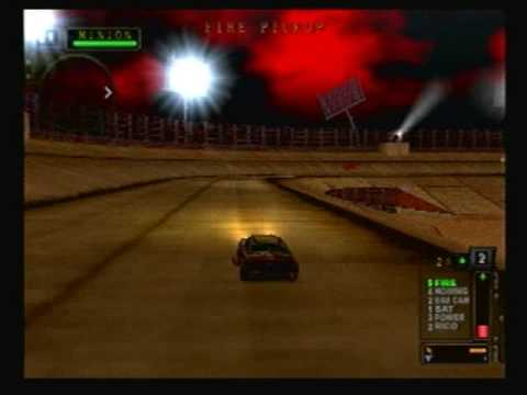 Twisted Metal Black - Story Mode - Level 4/8 - Roadkill - Hard Difficulty - Minion's Stadium