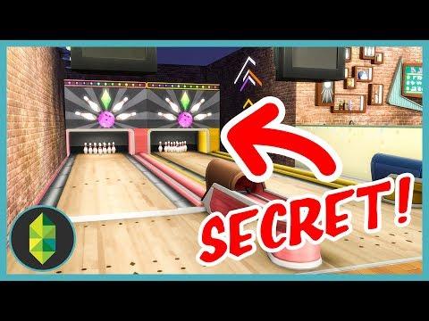SECRET Bowling Alley (Sims 4 Build)