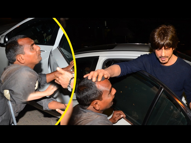 Hungry Beggar Begs For FOOD From Shah Rukh Khan.. What He Does Next Will Melt Your Heart