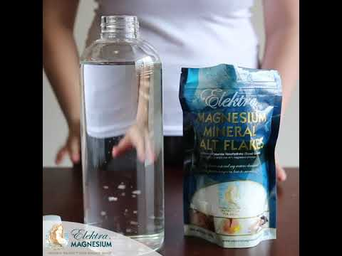 How To Make Magnesium Electrolyte Charged Drinking Water