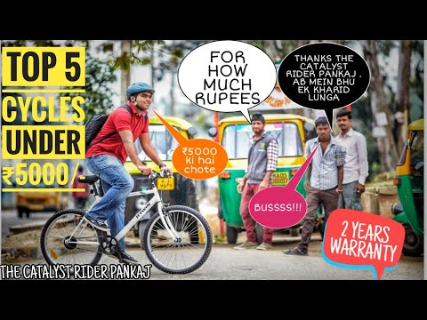 TOP 5 CYCLES UNDER ₹5000/- IN INDIA | MOUNTAIN BIKE | ROAD BIKE | FAT BIKE | BMX