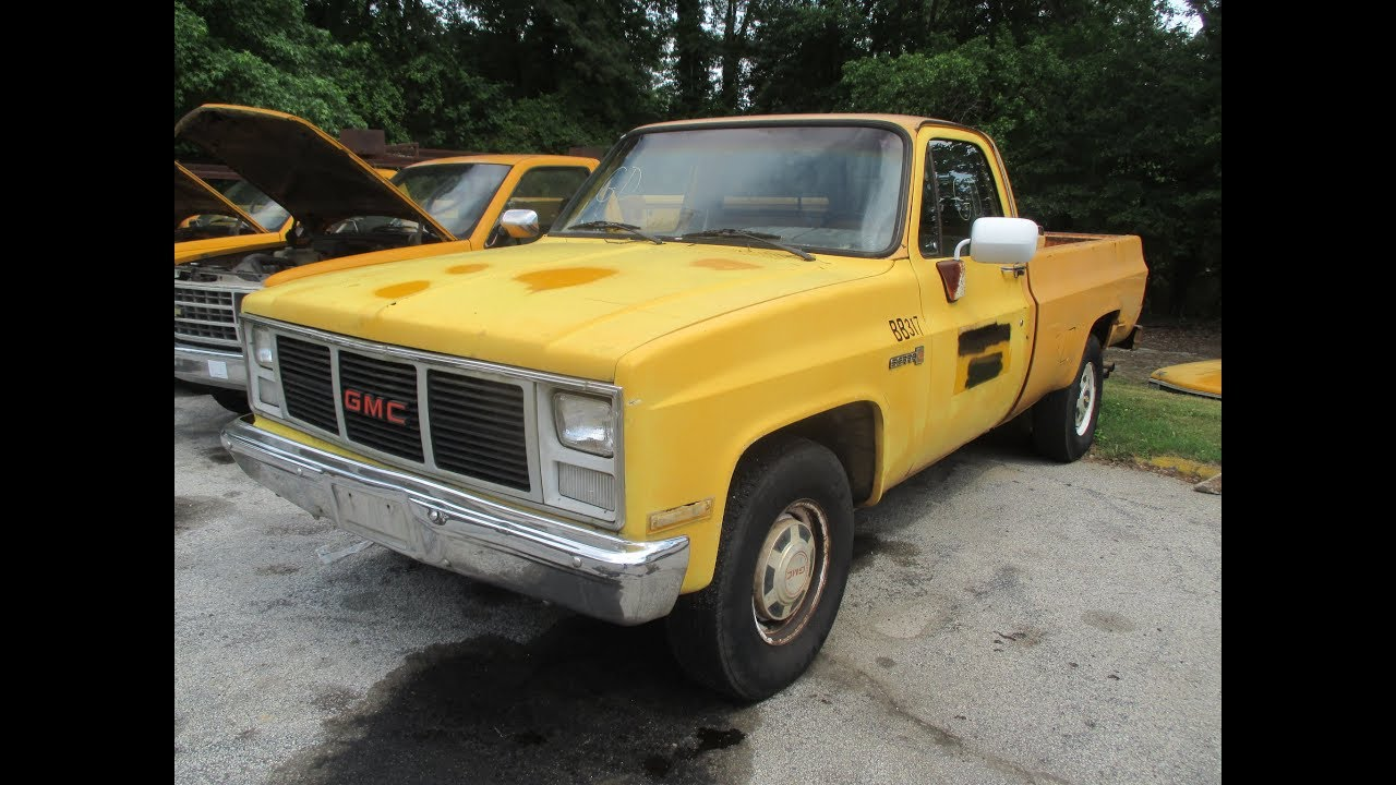 medium resolution of public online auction 1987 gmc sierra r2500 regular cab 2wd pickup truck