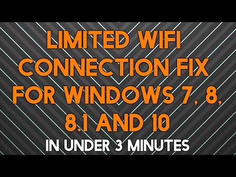 How to fix limited WIFI connection on Windows 8, 8.1, and 10 [January 2016]