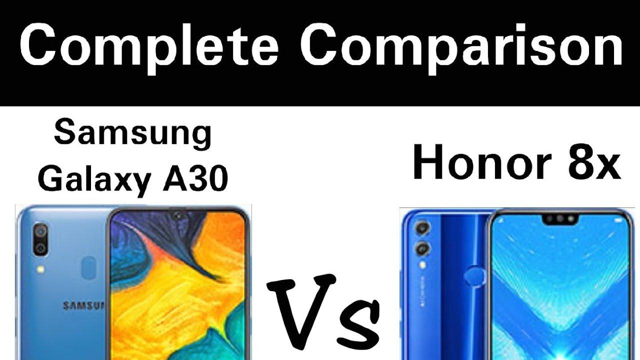 Samsung Galaxy A30 Vs Honor 8x - Complete Comparison - Aawaargi tech