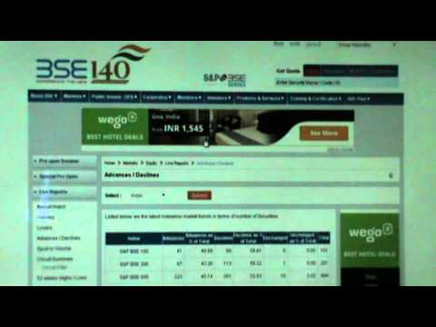 intrady trading stock market -BSE bombay stock exchange website details