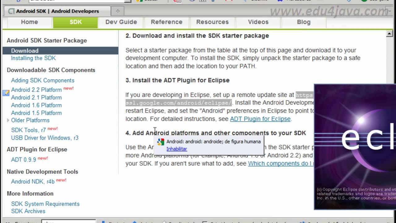 android development sdk eclipse download