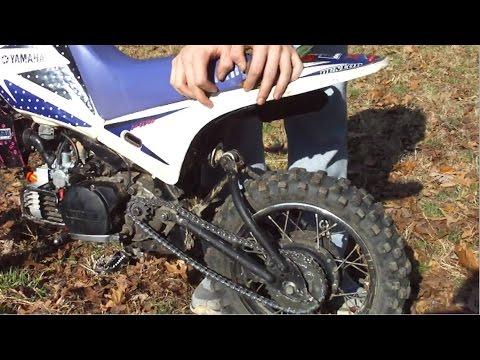 Yamaha PW80 Remodded With Kawasaki KX60 Rear Shock