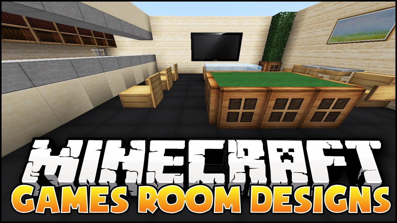 Bedroom Designs Video minecraft: games room designs & ideas - youtube
