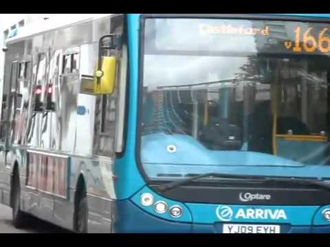 Route 166 Arriva Yorkshire Optare Tempo X1200 Optare Tempo 1305 (YJ09 EYH) Drive Off