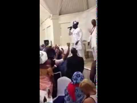 Wande Coal performing at his Manager (Nana Abbey's) wedding in London