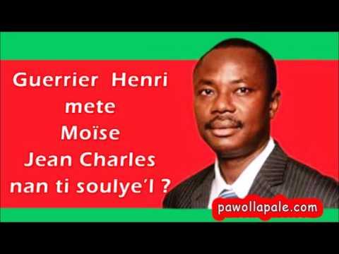 Guerrier Henri mete Moïse Jean Charles nan ti soulye-l. Li soule Senatè a anba kesyon