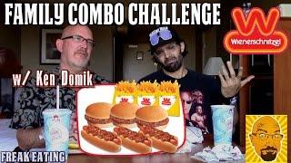 Wienerschnitzel Family Combo Challenge W/ Kbdproductionstv | Freakeating Vs The World 81
