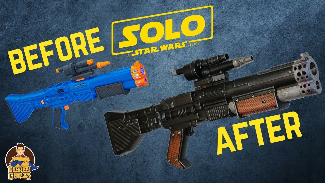 All Star Storage >> Nerf Chewbacca Blaster Makeover- Chris' Custom Collectables - YouTube