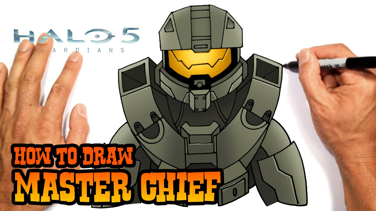 How To Draw Master Chief Halo 5