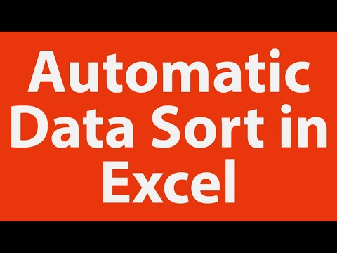 Automatic data sort in ms excel youtube automatic data sort in ms excel ibookread Read Online