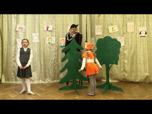Изображение предпросмотра прочтения – «Ученицы 2-А» читают произведение «Ворона и Лисица» И.А.Крылова