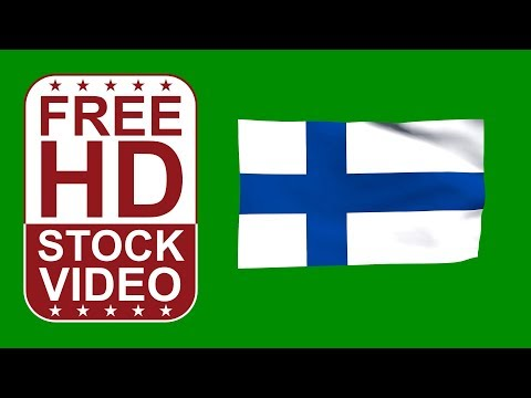 FREE HD video backgrounds – Finland flag waving on green screen 3D animation