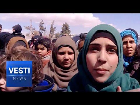 Running for Their Lives - 30,000 Civilians Flee East Ghouta Siege Through Humanitarian Corridor