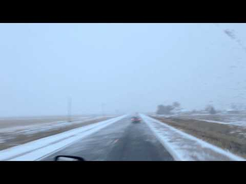 The way it snows in Kansas. Hugoton and liberal.