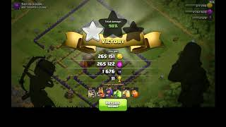 [Clash of Clans] TH 11. Giant skeleton attack