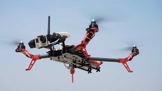 Scorpion Flycker 550 Quadcopter Maiden Flight testing