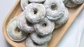 구운도넛 만들기 녹차도너츠, 노오븐 디저트, 구움도넛, Baked Doughnuts ベークド ドーナツ. 레꼴뜨 스마일베이커,recolte Smilebaker